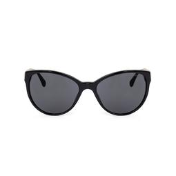 Óculos Preto Haste Corrente