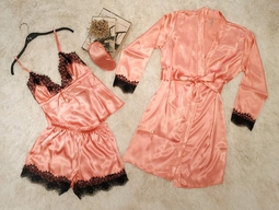 Pijama Baby Doll Enc Pessego