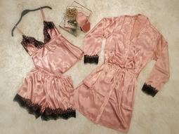 Pijama Baby Doll Enc Rose