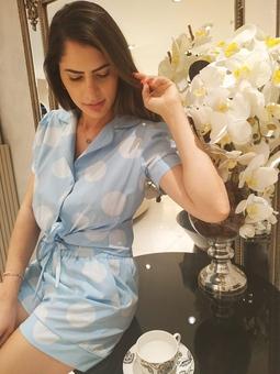 Pijama Bolas Azul