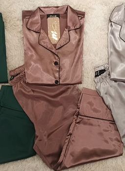 Pijama Pantacourt Shine Canela