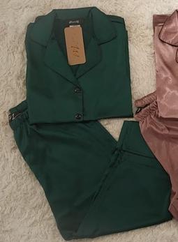 Pijama Pantacourt Shine Verde