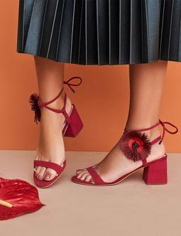 Poppy Block Sandal Rosa