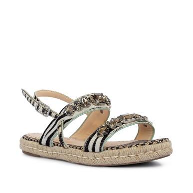 Rasteira Zebra Pedras - DG15243 Tatiana Loureiro