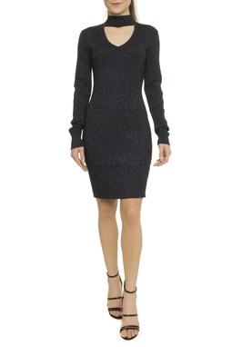 Ribbed Viscose Lurex Dress Choker Ml - 50H276