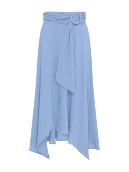 Saia Arina Cinto Fivela Azul Azulejo USTYLE