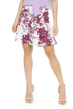 Saia Curta Estampa Floral - DG15832