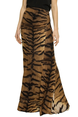 Saia Longa Animal Print Tigre - DG14896