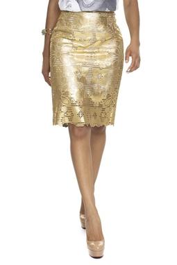 Saia Midi Dourada - DG15586