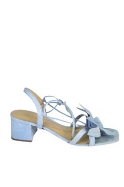 Sandália Amarração Azul Claro Flor - DG15477