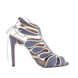 Sandália Camurça Azul Claro - DG15476