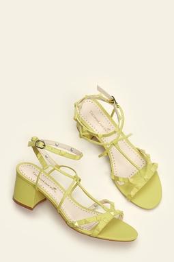 Sandália Gladiadora Spikes Lime
