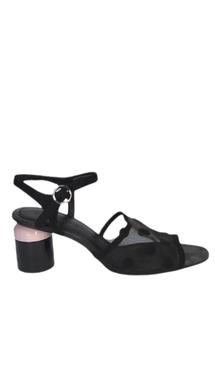 Sandália Preta Com Bolinhas - DG15018