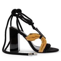 Sandália Preta Com Pedra - DG15016