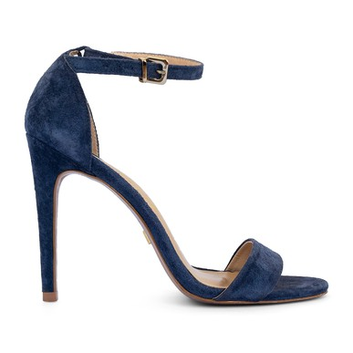 Sandália Salto Alto Suede Azul - DG15223 Vicenza