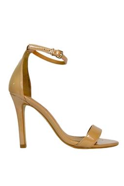 Sandália Salto Alto Verniz Nude - DG15224