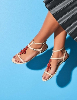 Flat T-bar Coral Off White