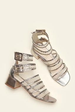 Sandália Telada metalic