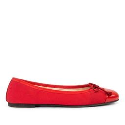 Sapatilha Vermelha Com Lacinho - DG15858