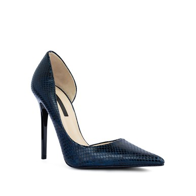 Sapato Bico Fino Cobra Azul - DG15851 Zara