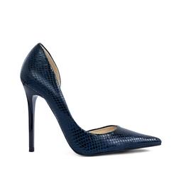 Sapato Bico Fino Cobra Azul - DG15851