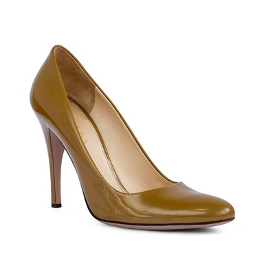 Sapato Bico Redondo Verniz Caramelo - DG15847 Prada