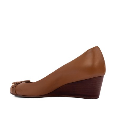 Sapato Boneca Marrom Salto Anabela - DG15519 Tory Burch
