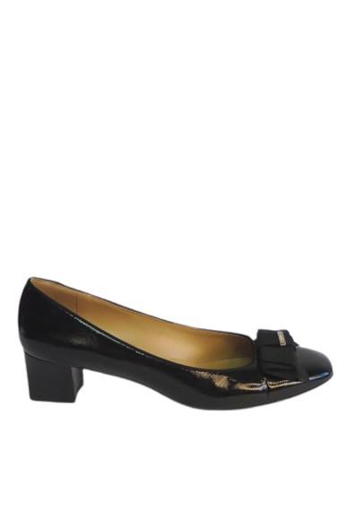 Sapato Boneca Preto Laço - DG15475 Salvatore Ferragamo