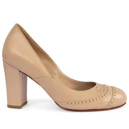 Sapato Salto Bloco Nude
