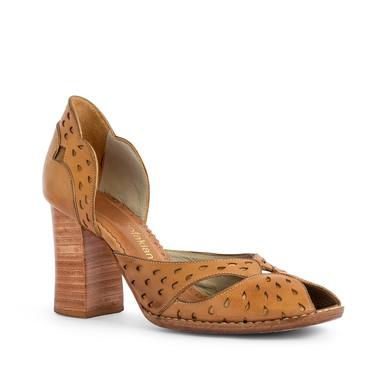 Sapato Peep Toe Salto Grosso - DG16768 Sarah Chofakian