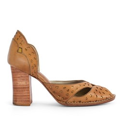 Sapato Peep Toe Salto Grosso - DG16768