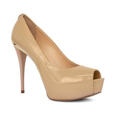 Sapato Pep Toe salto alto nude - DG15951 Jorge Bischoff