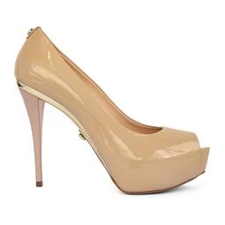 Sapato Pep Toe salto alto nude - DG15951