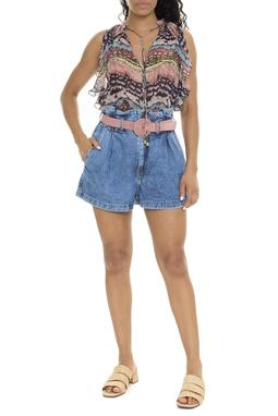 Short Jeans Cintura Alta Elástico - DG15877
