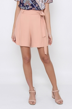 Short Saia Crepe Rose