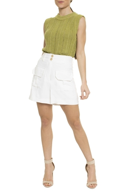 Shorts Cintura Alta Bolsos - DG16619