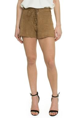 Shorts Couro Caramelo - DG17341