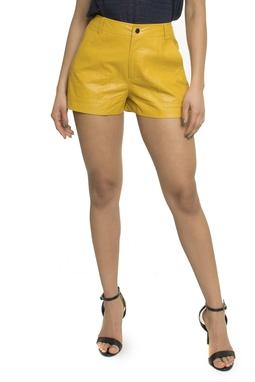 Shorts Couro Liso  - DG16050