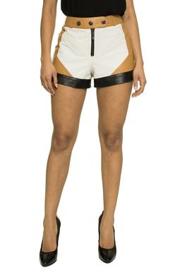 Shorts Couro Tricolor - DG17339