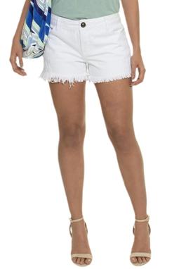 Shorts Branco Aplicação Renda - DG14812