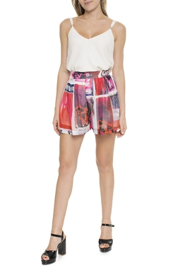 Shorts Curto Pregas Estampado - DG16497