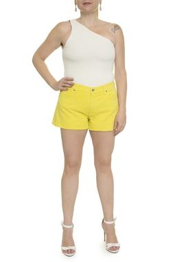 Shorts Amarelo Sarja  - DG14818