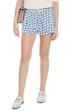 Shorts Curto Seda Estampado - DG15838