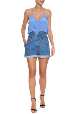 Shorts Jeans Barra Dobrada - DG16620