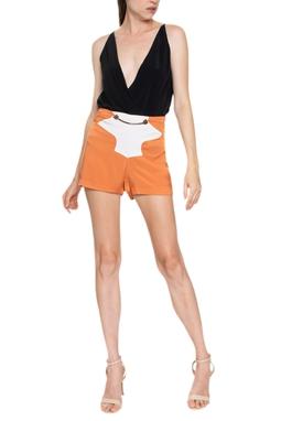 Shorts Laranja Cinto - DG15772