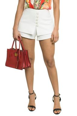 Shorts Saia Botões Off White - DG17343