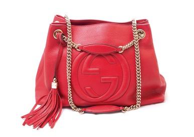 Bolsa Soho Shoulder Chain Red Gucci