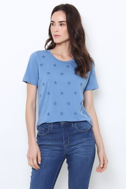 T-Shirt Algodão Egipcio Bordada Estrela