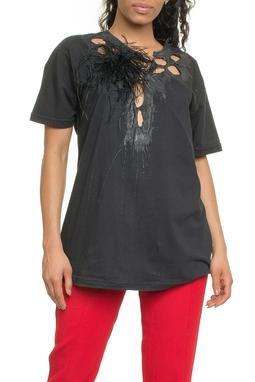 T-shirt Destroyed Plumas - DG17974