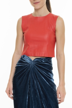 Top Cropped Couro - DG16017